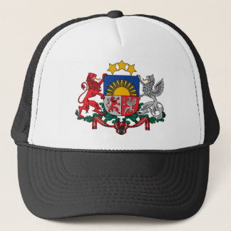 het embleem van Letland Trucker Pet