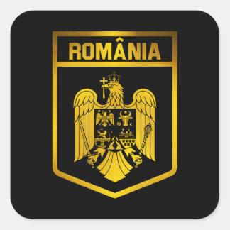 Het Embleem van Roemenië Vierkant Sticker