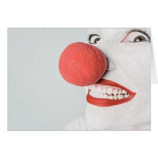 Het enge Gezicht van de Clown - Leeg Wenskaart
