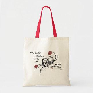 Het enge Gotische Canvas tas van Edgar Allen Poe