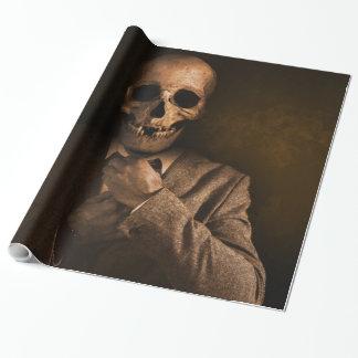 Het enge Man van de Schedel in Kostuum Inpakpapier
