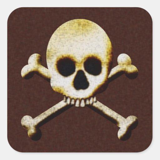 Het enge Vergift Halloween van de Gekruiste Vierkante Sticker