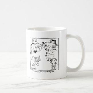 Het Engels is de 2de Taal van de Dieren van het Koffiemok