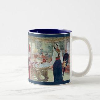 Het Engelse Bergman Stuga Zweedse Fijne Art. van Tweekleurige Koffiemok