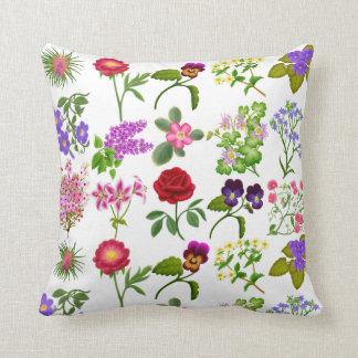 Het Engelse BloemenHoofdkussen van de Tuin Sierkussen