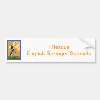 Het Engelse Spaniel van de Aanzetsteen Bumpersticker