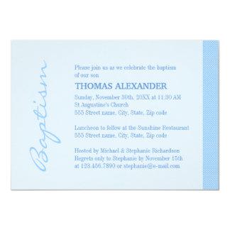 Het enige Blauwe Doopsel van de Streep 11,4x15,9 Uitnodiging Kaart