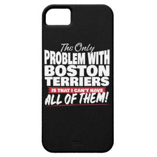 Het enige Probleem met Boston Terriers Barely There iPhone 5 Hoesje
