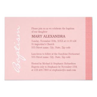 Het enige Roze Doopsel van de Streep 11,4x15,9 Uitnodiging Kaart