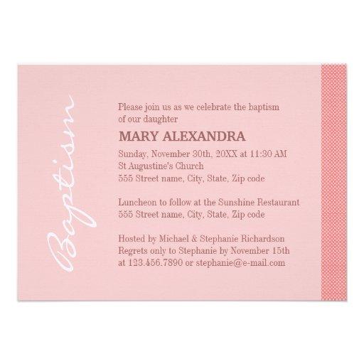 Het enige Roze Doopsel van de Streep Uitnodigingen