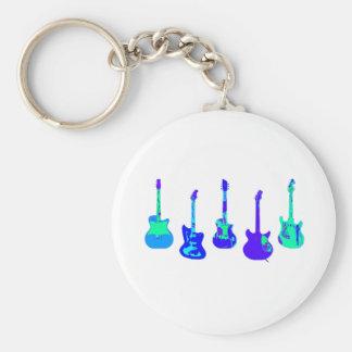 Het Ensemble van de gitaar Sleutelhanger