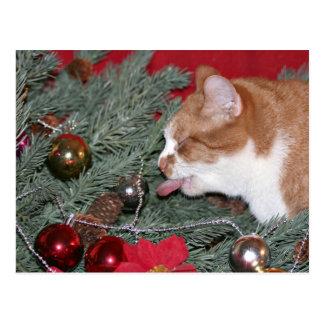 Het eten van de Kerstboom Briefkaart