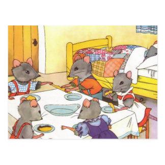 Het Eten van de Kinderen van muizen Briefkaart