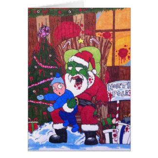 Het Eten van het seizoen de Kerstman van de Zombie Kaart