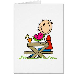 Het eten van Watermeloen Kaart