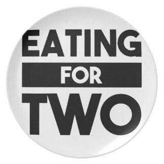 Het eten voor Twee Diner Bord