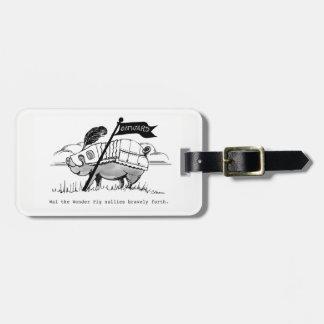 Het Etiket van de bagage met Wai. Kofferlabel