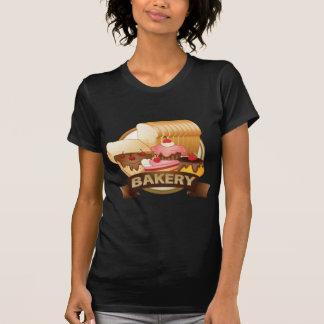 Het etiket van de bakkerij t-shirt