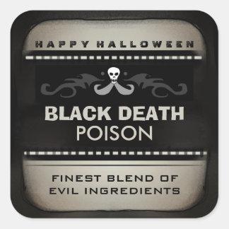 Het Etiket van de Drank van Halloween - Tan & Vierkant Stickers