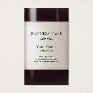 Het Etiket van de Fles van de wijn Visitekaartjes