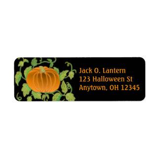 Het Etiket van de Pompoen van Halloween