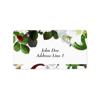 Het Etiket van de Port van het huwelijk Addressticker
