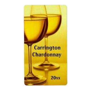Het Etiket van de Wijn van de Glazen van de wijn
