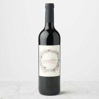 Het Etiket van de Wijn van de Kroon van de