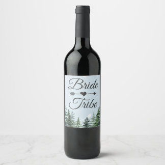 Het Etiket van de Wijn van de Stam van de bruid  
