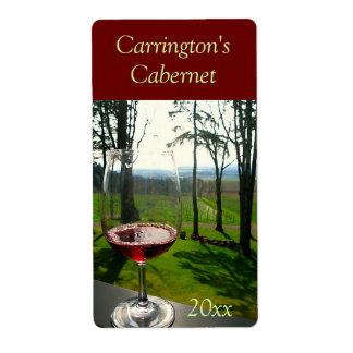 Het Etiket van de Wijn van het Glas van de wijn