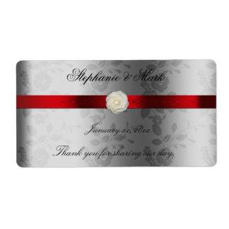 Het Etiket van de Wijn van het huwelijk met Rood Verzendlabel