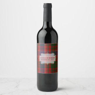 Het Etiket van de Wijn van het Huwelijk van de