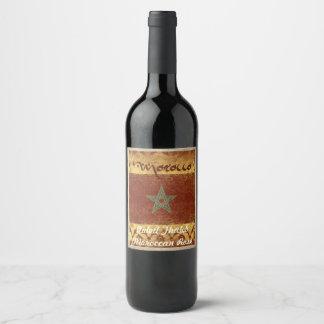 Het Etiket van de Wijn van Marokko