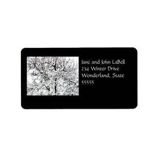 Het Etiket van het Adres van de boom van de winter Addressticker
