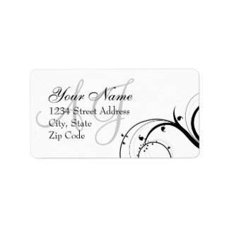 Het Etiket van het Adres van de Envelop van het