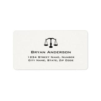 Het Etiket van het Adres van de Procureur van de