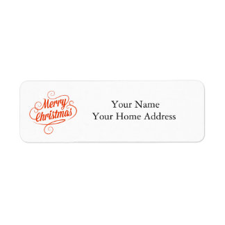 Het Etiket van het Adres van het etiket met de