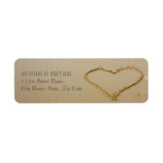 Het Etiket van het Adres van het Huwelijk van het Retouretiket