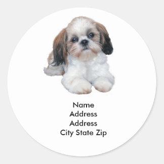 Het Etiket van het Adres van Tzu van Shih
