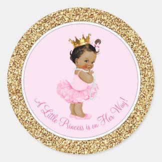 Het etnische Baby shower van de Prinses van de Ronde Sticker