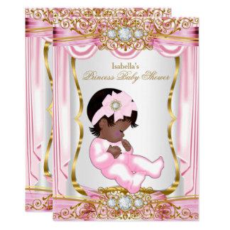 Het etnische Goud van de Zijde van het Mooie Baby Kaart