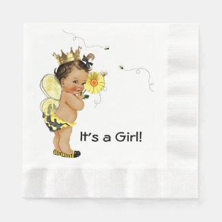 Het etnische Meisje stuntelt het Baby shower van Papieren Servet