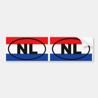 Het Europese ovaal van Nederland NL Bumpersticker