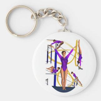 Het exemplaar van de gymnastiek sleutelhanger