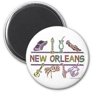 Het exemplaar van nieuw-Orléans-pictogrammen Magneet