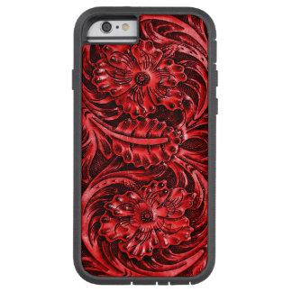 Het exotische Bewerkte Leer kijkt het rood van | Tough Xtreme iPhone 6 Hoesje