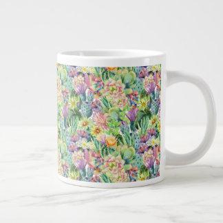 Het exotische Bloeiende Patroon van de Cactussen Grote Koffiekop