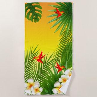 Het exotische Tropische Ontwerp van de Kolibrie Strandlaken