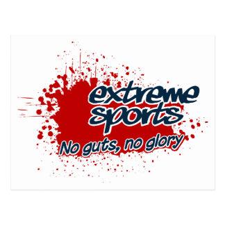Het extreme briefkaart van Sporten, past aan