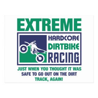 Het extreme Hardcore Rennen Dirtbike Briefkaart